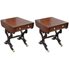 Pair of Mahogany Regency Style Side Tables