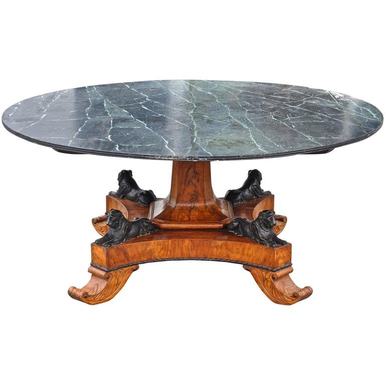 Early 19th Century Baltic Neoclassical Walnut Dining Table, Style of Thomas Hope