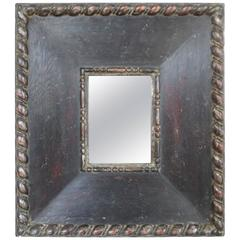 Hand-Carved Mirror, 1940s, Italy