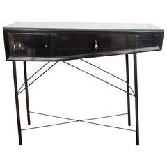 Lacquered Wood Console Table