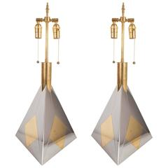 Pair of Pyramidal Table Lamps