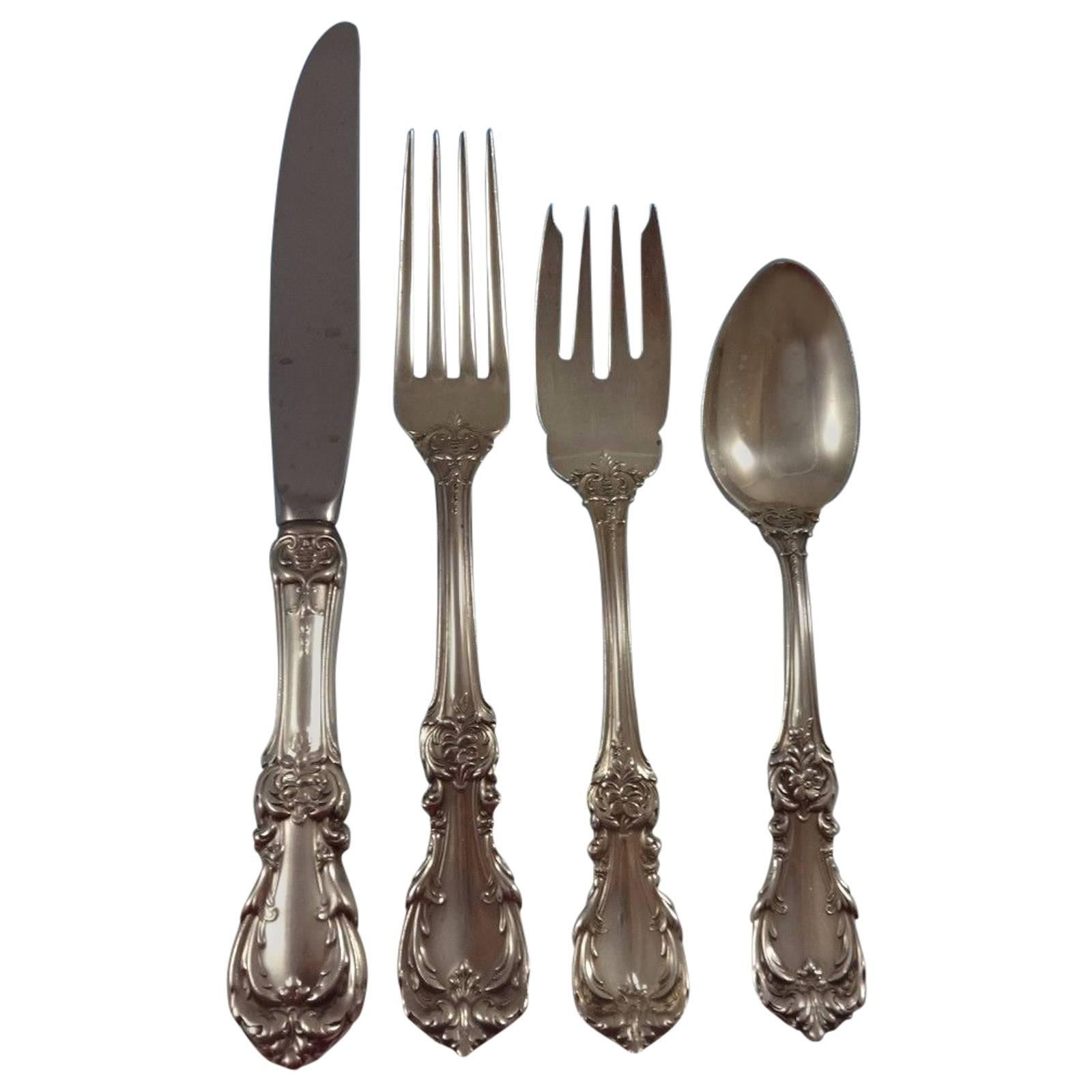 Burgundy by Reed & Barton Sterling Silver Flatware Set for 6 Service 24 Pieces