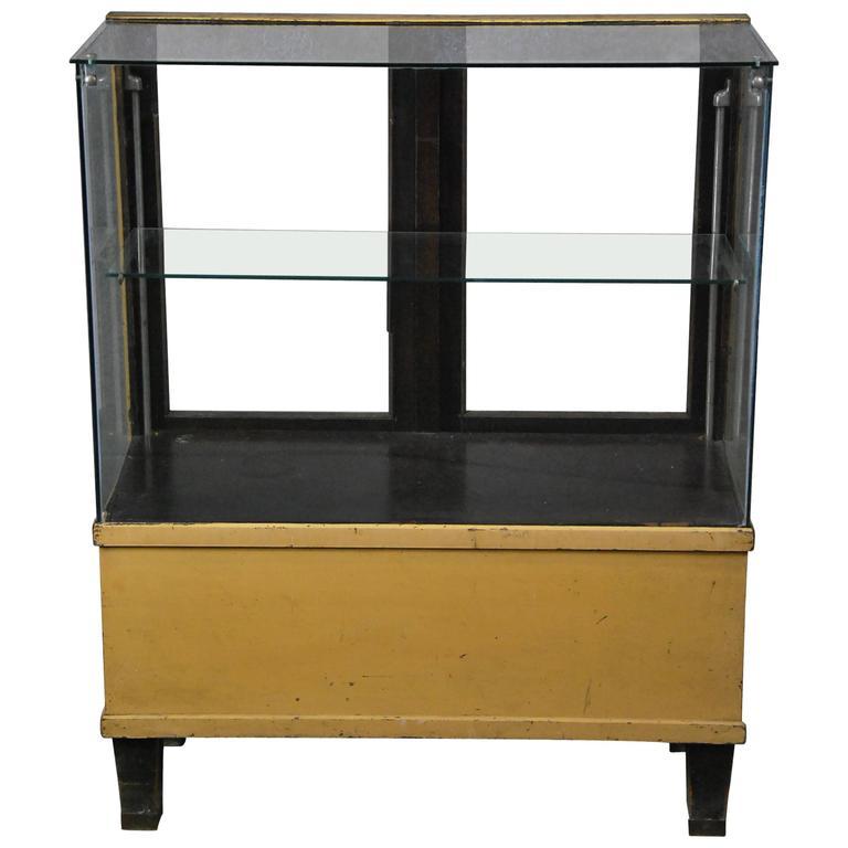 1930 Mercantile Oak and Glass Display Cabinet Vitrine