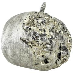 French Sculpture of a Pomegranate in Silver Leafed Bronze