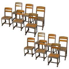 1950 Set of 6 Children's Industrial School Chairs