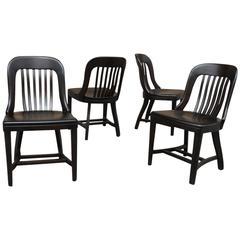 Ebonized Gunlocke Bank of England Side Chair