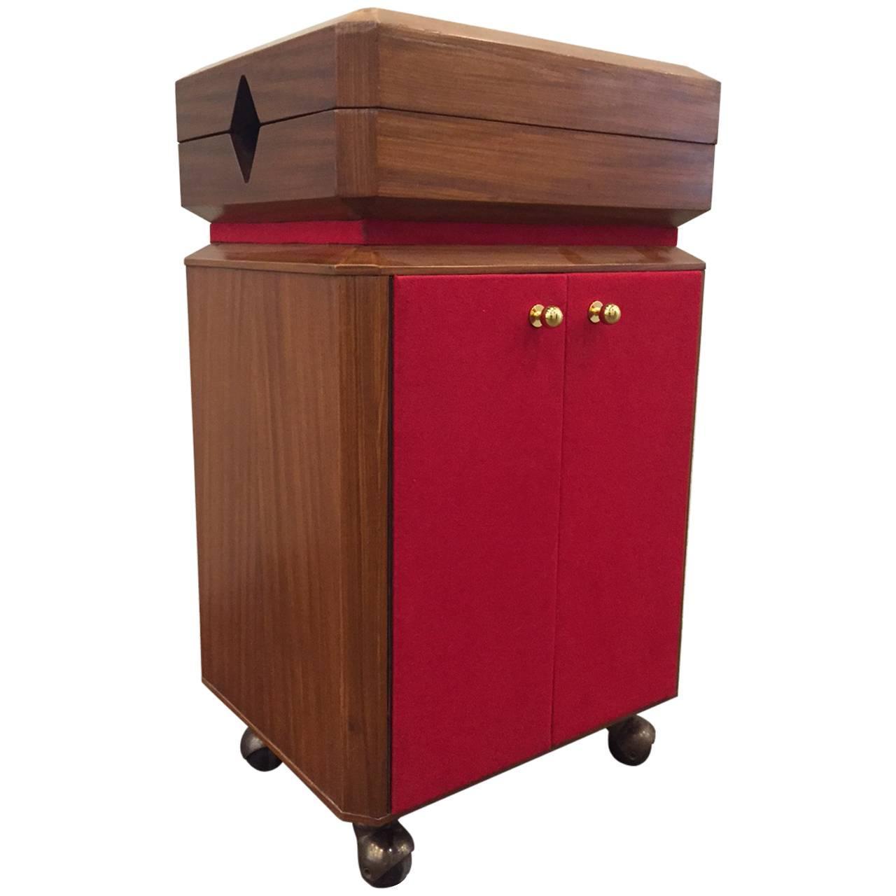 Mid Century Modern Liquor Cabinet Bar Cart For Sale At 1stdibs
