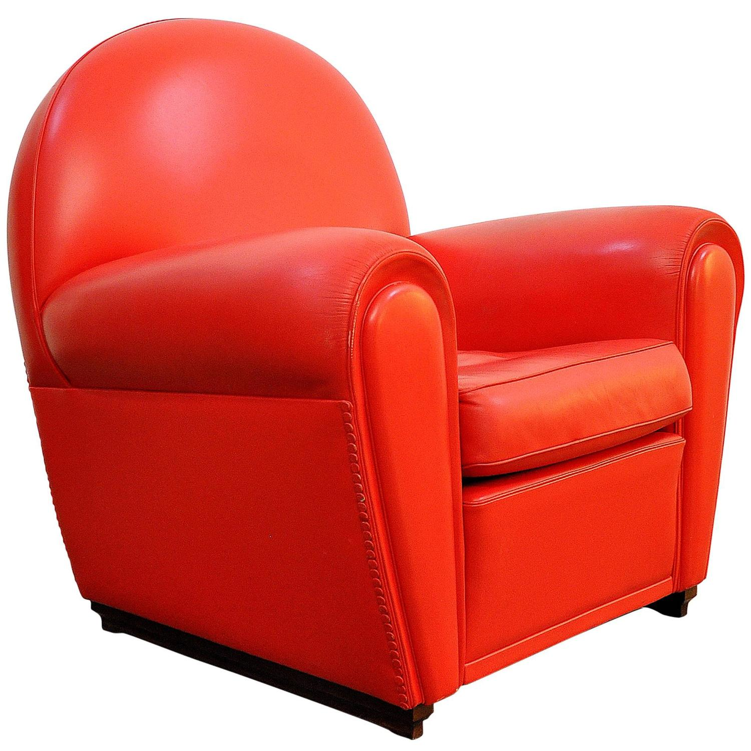 Merveilleux Poltrona Frau Vanity Fair Red Leather Club Chair At 1stdibs