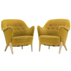 Pair of Lounge Chairs by Arne Hovmand Olsen