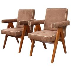 "Pierre Jeanneret (1896-1967) Ensemble De Two ""Senate-Committee Chairs"""