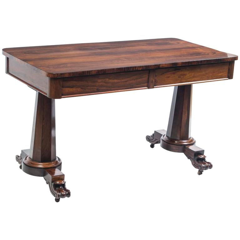 19th Century William IV Rosewood Writing Sofa Table