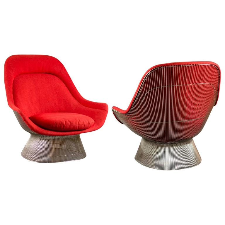 Pair of lounge chairs by warren platner for knoll for sale at 1stdibs - Knoll inc chairs ...
