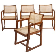 Pierre Jeanneret Set of Four Armchairs