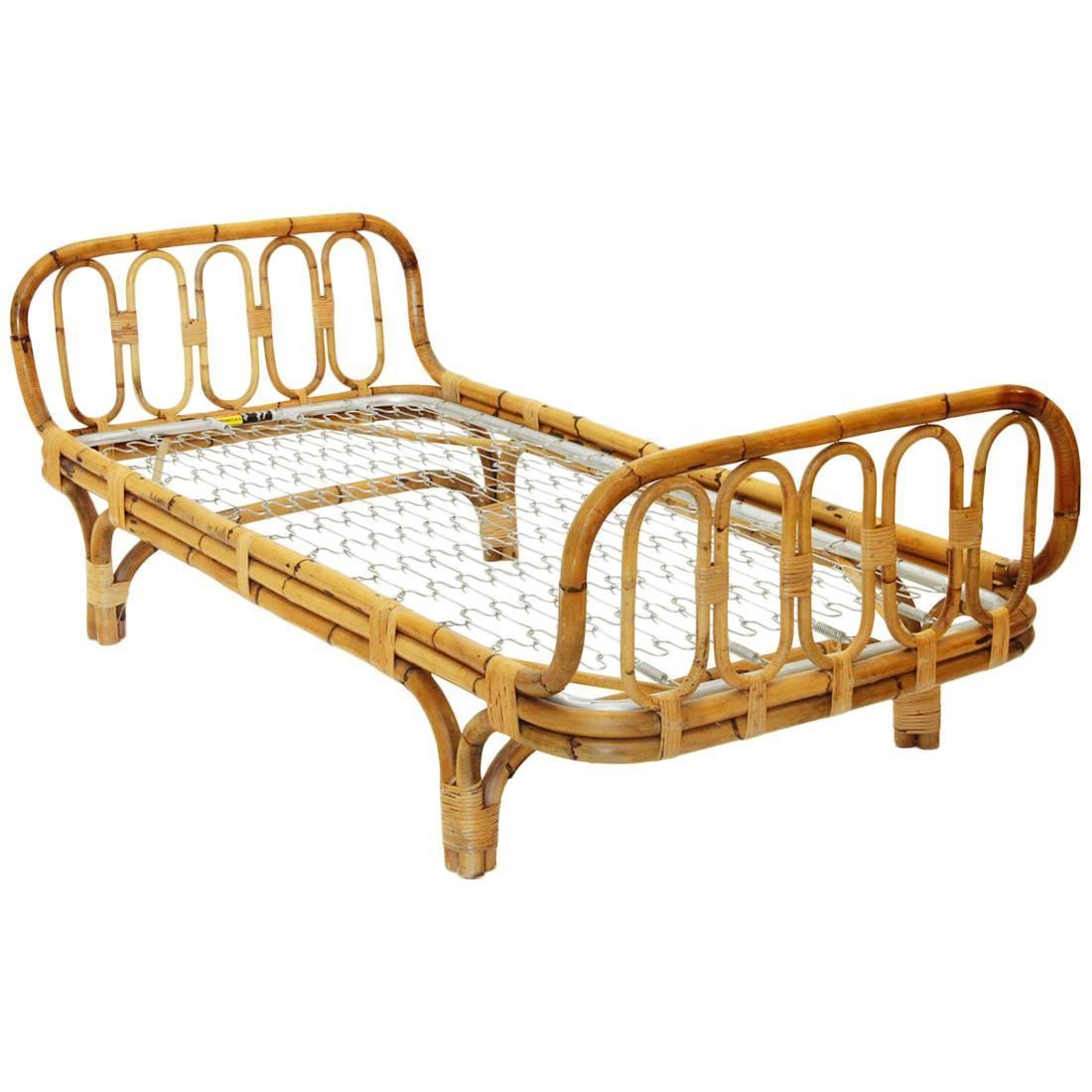 - Vintage Italian Mid-Century Wicker Daybed, 1960s At 1stdibs