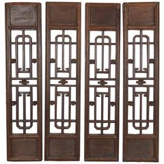 Set of Antique Chinese Window Screens