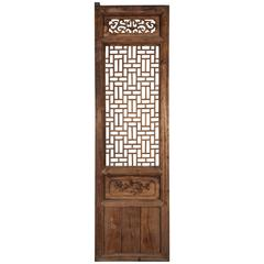 Tall Antique Chinese Window Screen