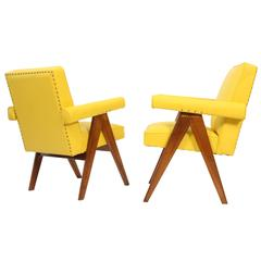 "Pierre Jeanneret Set of Two ""Senate-Committee"" Chairs"