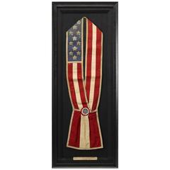 Patriotic 13-Star Baldric American Flag Sash, circa Late 19th Century
