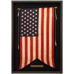 "45-Star ""Swallowtail"" Guidon American Flag, Circa 1896-1908"