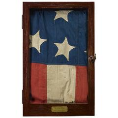 38-Star Hand-Cut and Sewn American Flag, circa 1877