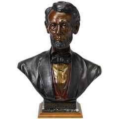 """Abraham Lincoln Bronze Bust """"Immortal Conscience"""" by James Nance, circa 1994"""