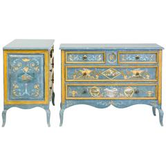 Pair of 18th Century Style Paolo Romano Custom Painted Chests