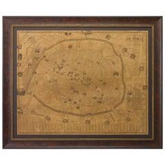 Plan of Paris, France, by A. Vuillemin, Antique Map, 1845