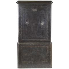 French Industrial Cast Iron Safe, circa 1920