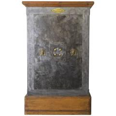 French Industrial Cast Iron Safe, circa 1930