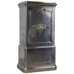 French Antique Cast Iron Safe by Bauche, circa 1930, Polished Mirror