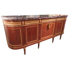 Important 19th Century French Signed F Linke Marble-Topped Buffet