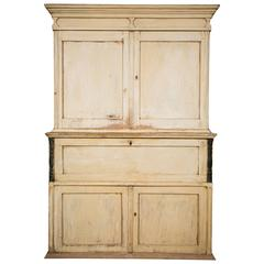 Swedish Painted Cupboard with Drop-Leaf Front, circa 1880