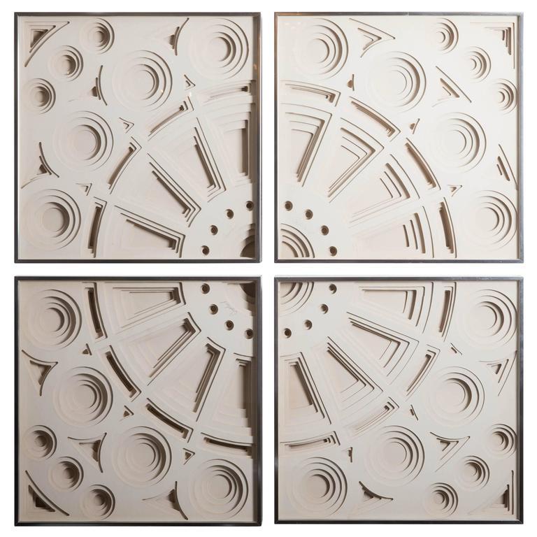 Four-Piece Framed Wall Sculpture by Greg Copeland