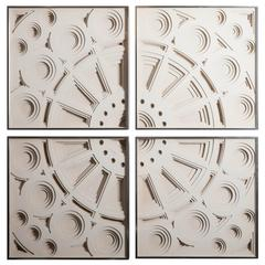 Four-Piece Framed Wall Sculpture by Greg Copeland