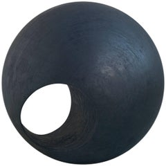 "24"" R Sculptural Wood Sphere by May Furniture"