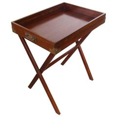 Mahogany Butler's Tray on Stand