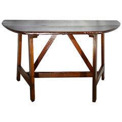 18th Century Dark Walnut Console Table