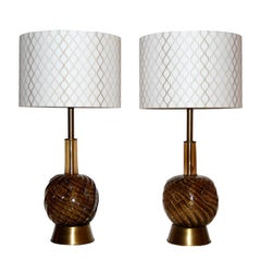 Seguso Table Lamps with Custom Shades