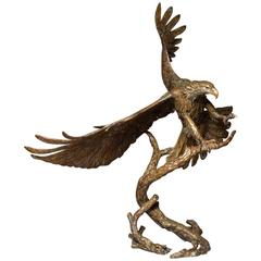 American Bald Eagle Bronze Sculpture, Limited Edition of 32