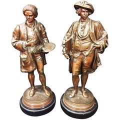 Classical Bronzes of Hogarth and Reynolds, Signed Salmson