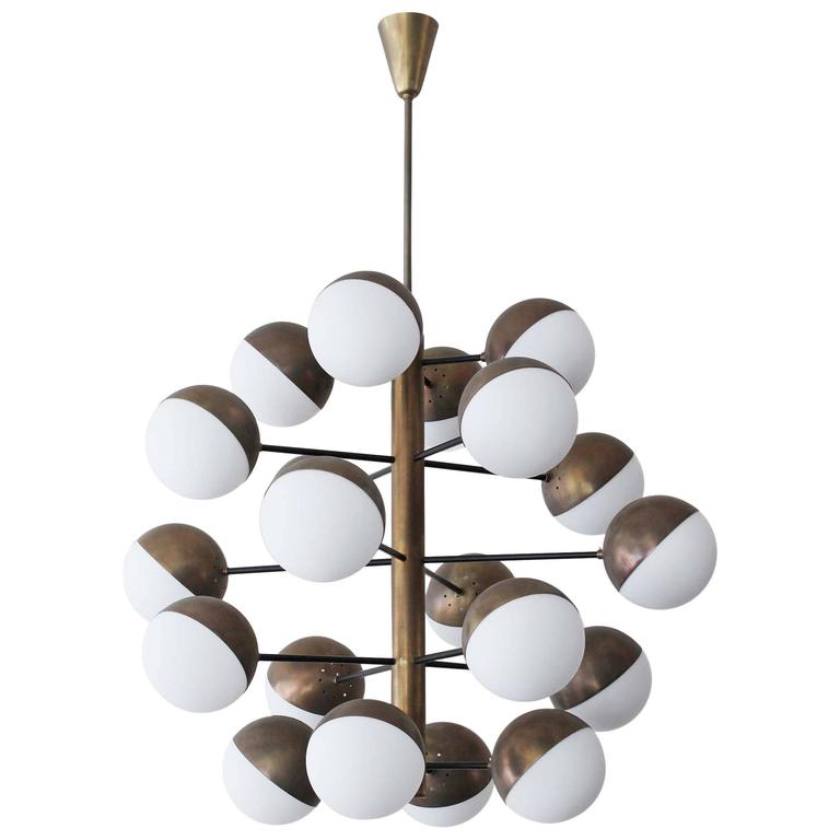 Italian Globe Chandelier For Sale