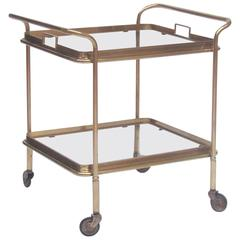 Italian 1950s Brass and Glass Bar Cart