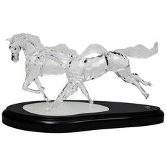 Swarovski Crystal Wild Horses Sculpture 2001 Limited Edition in Original Case