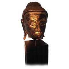 Papier Mâché Head of Buddha, Birma