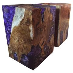 Side Table Made of Teak Wood