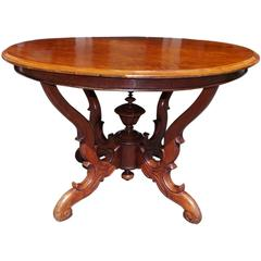 French Walnut One Board Top Center Table, Circa 1820