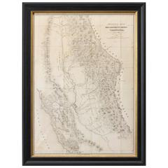 1848 Gold and Quicksilver District of California Map