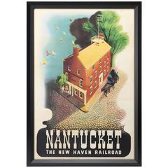 Nantucket Vintage Poster, First Edition, the New Haven Railroad, circa 1945