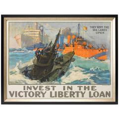 """They Kept the Sea Lanes Open"" Liberty Loan Poster, circa 1918"
