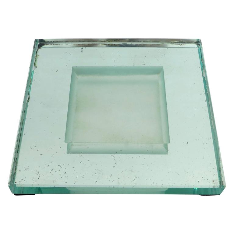 Glass Art Deco Vide Poche by French Designer Jean Luce